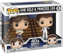 Empire Strikes Back 40th Anniversary - Han Solo & Princess Leia (2-Figuren) Vinyl Figur