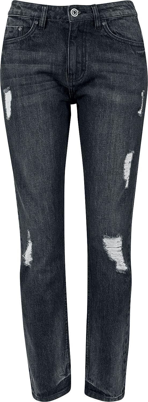 Hosen für Frauen - Urban Classics Ladies Boyfriend Denim Pants Girl Jeans schwarz  - Onlineshop EMP