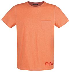 RED X CHIEMSEE - oranges T-Shirt mit Brusttasche