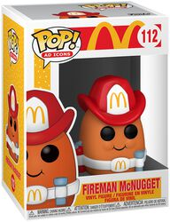 Mc Donalds Fireman McNugget Vinyl Figur 112