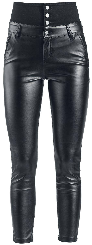 Hosen - Forplay High Waist Leather Immitation Trousers Kunstlederhose schwarz  - Onlineshop EMP