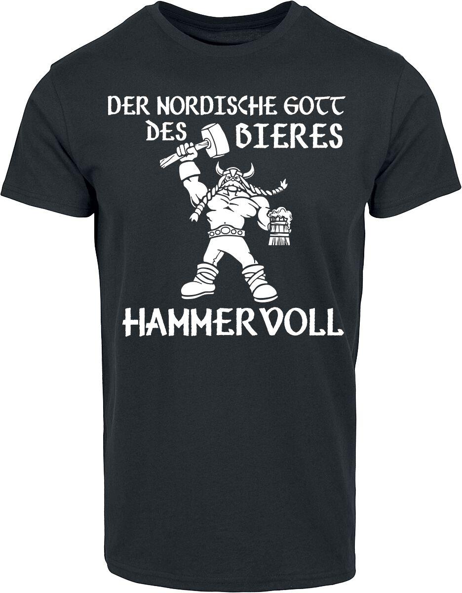 Der nordische Gott des Bieres - Hammervoll T-Shirt schwarz POD - BY083 - 5346