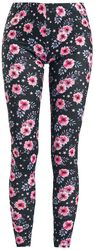Bunte Leggings mit floralem Print
