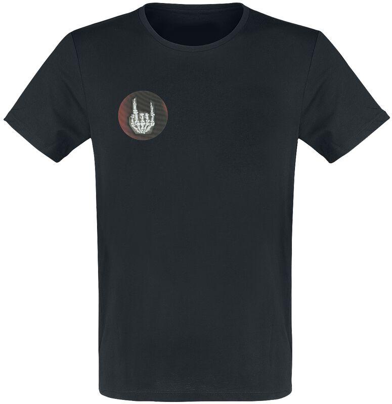 Schwarzes T-Shirt mit Wackelbild