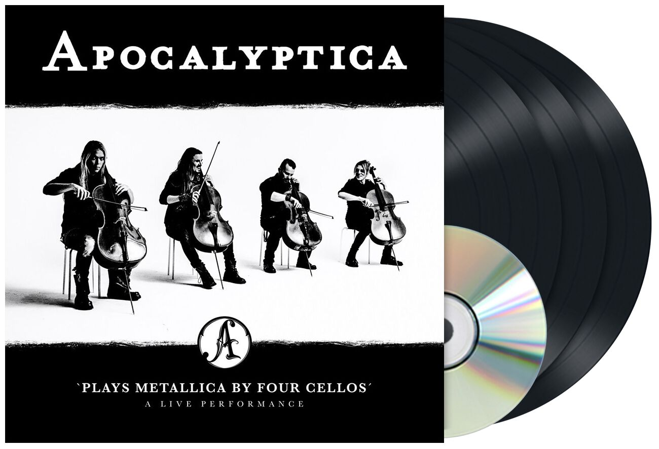 Image of Apocalyptica Plays Metallica by Four Cellos – A live performance 3-LP & DVD Standard