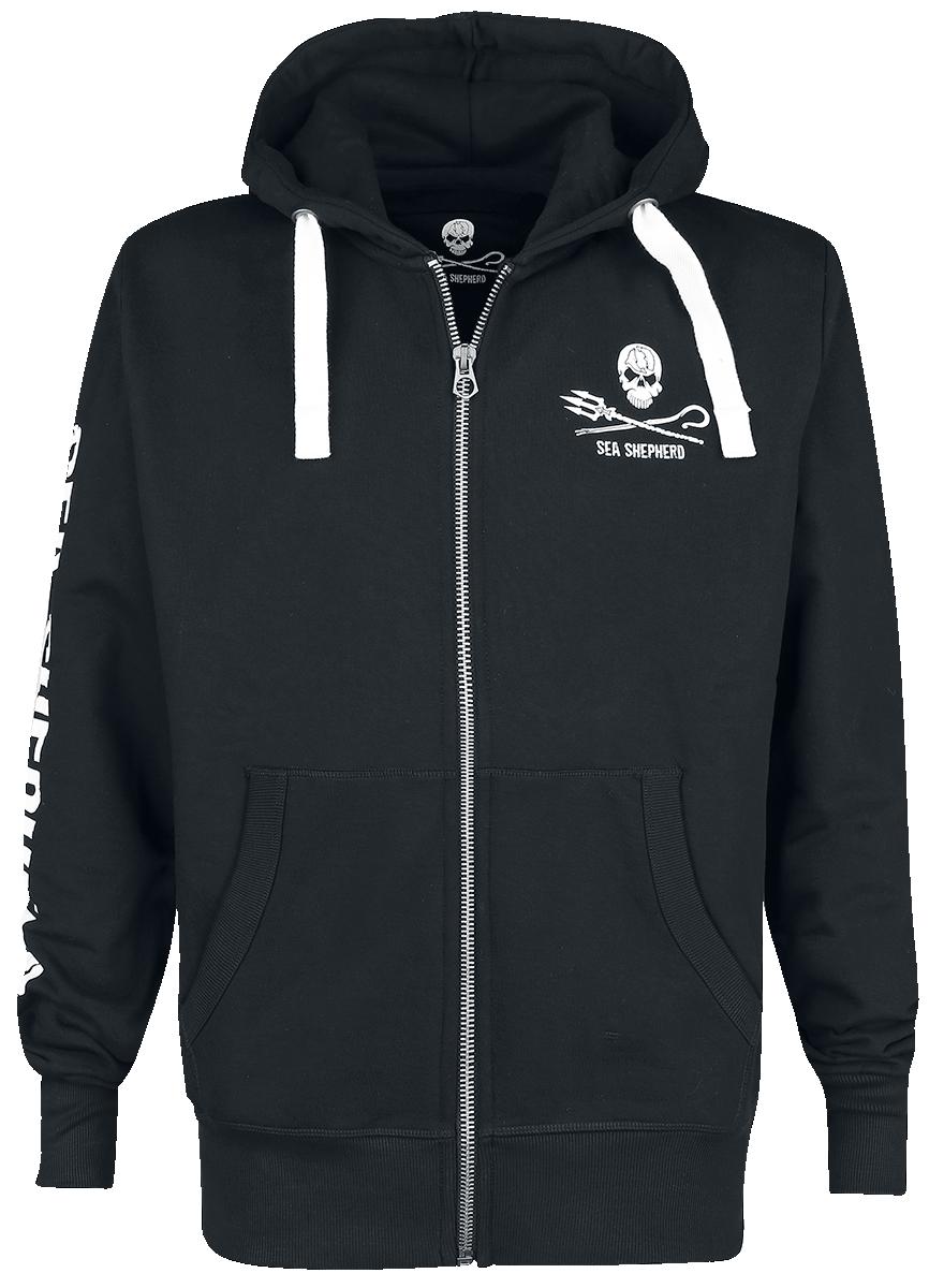 Sea Shepherd - Jolly Roger - Hooded zip - black image