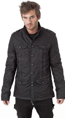 Jacke mit Ziernähten und Fronttaschen