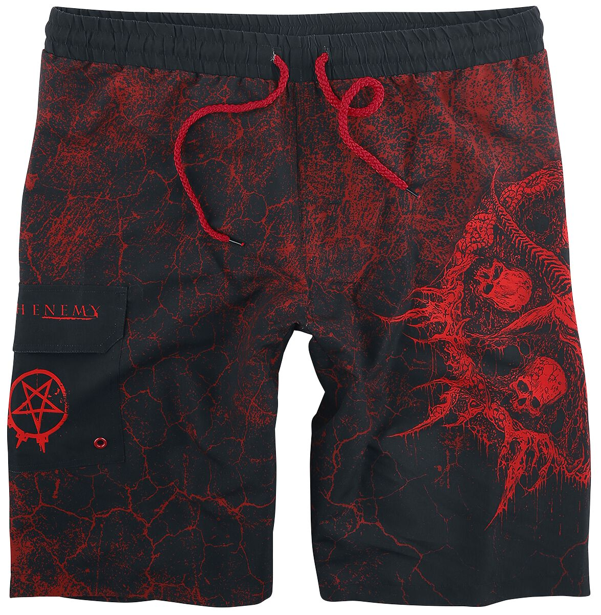 Image of Arch Enemy EMP Signature Collection Badeshorts multicolor
