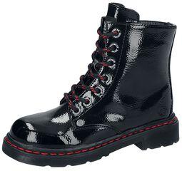Patent PU Black Boots