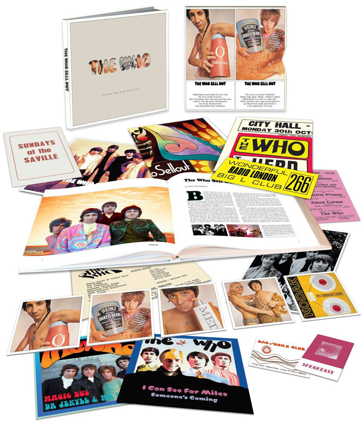 Image of The Who Sell out 5-CD & 7 inch schwarz