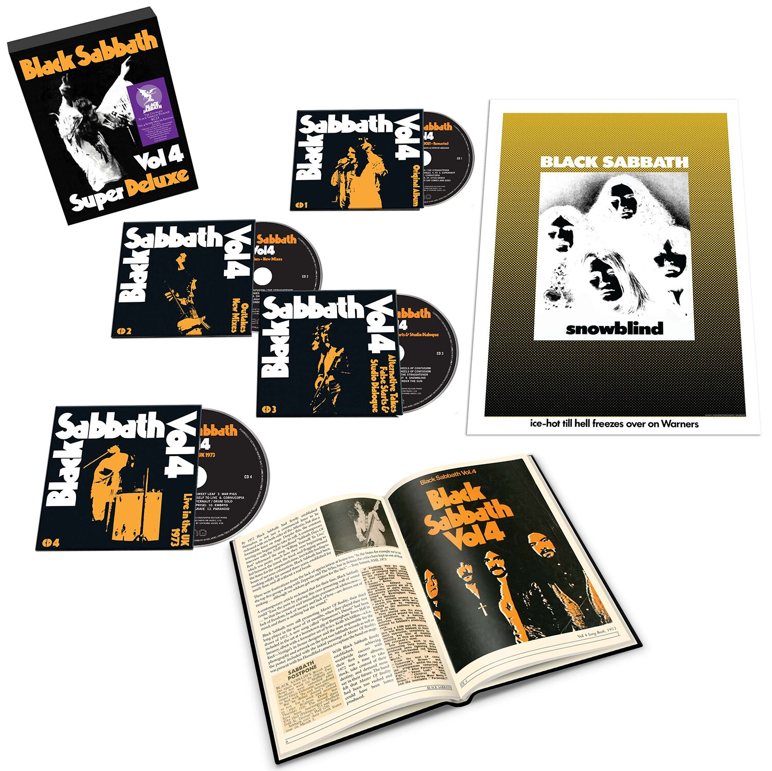Image of Black Sabbath Vol. 4 4-CD Standard