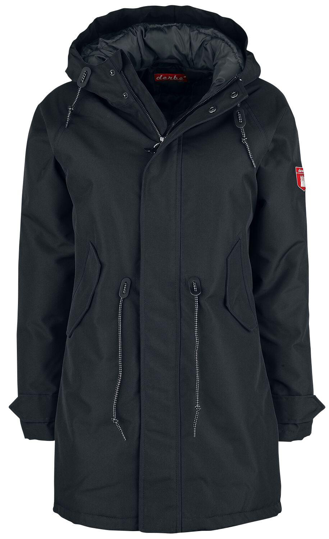 Jacken für Frauen - Sea Shepherd X Derbe Hamburg JF Schmerle Wintermantel schwarz  - Onlineshop EMP