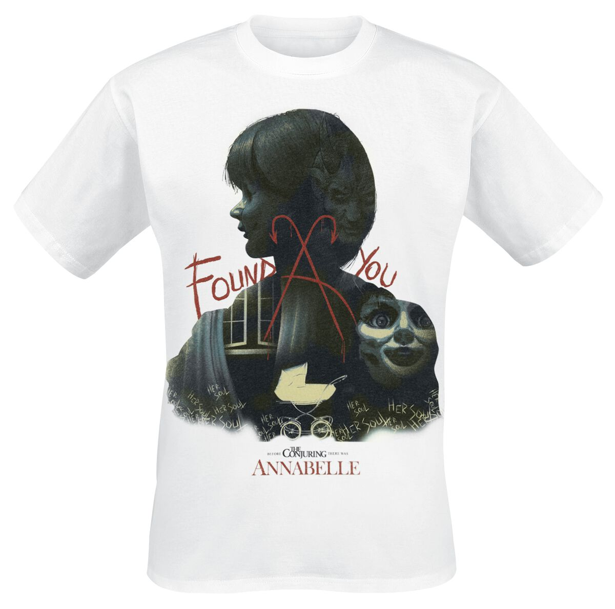 Image of Annabelle Found You T-Shirt weiß