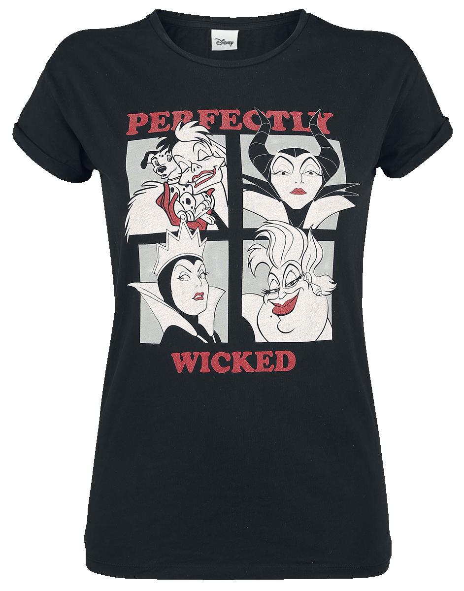 Disney Villains - Perfectly Wicked - Girls shirt - black image