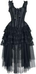 Aufwendiges Gothic Kleid mit Korsage