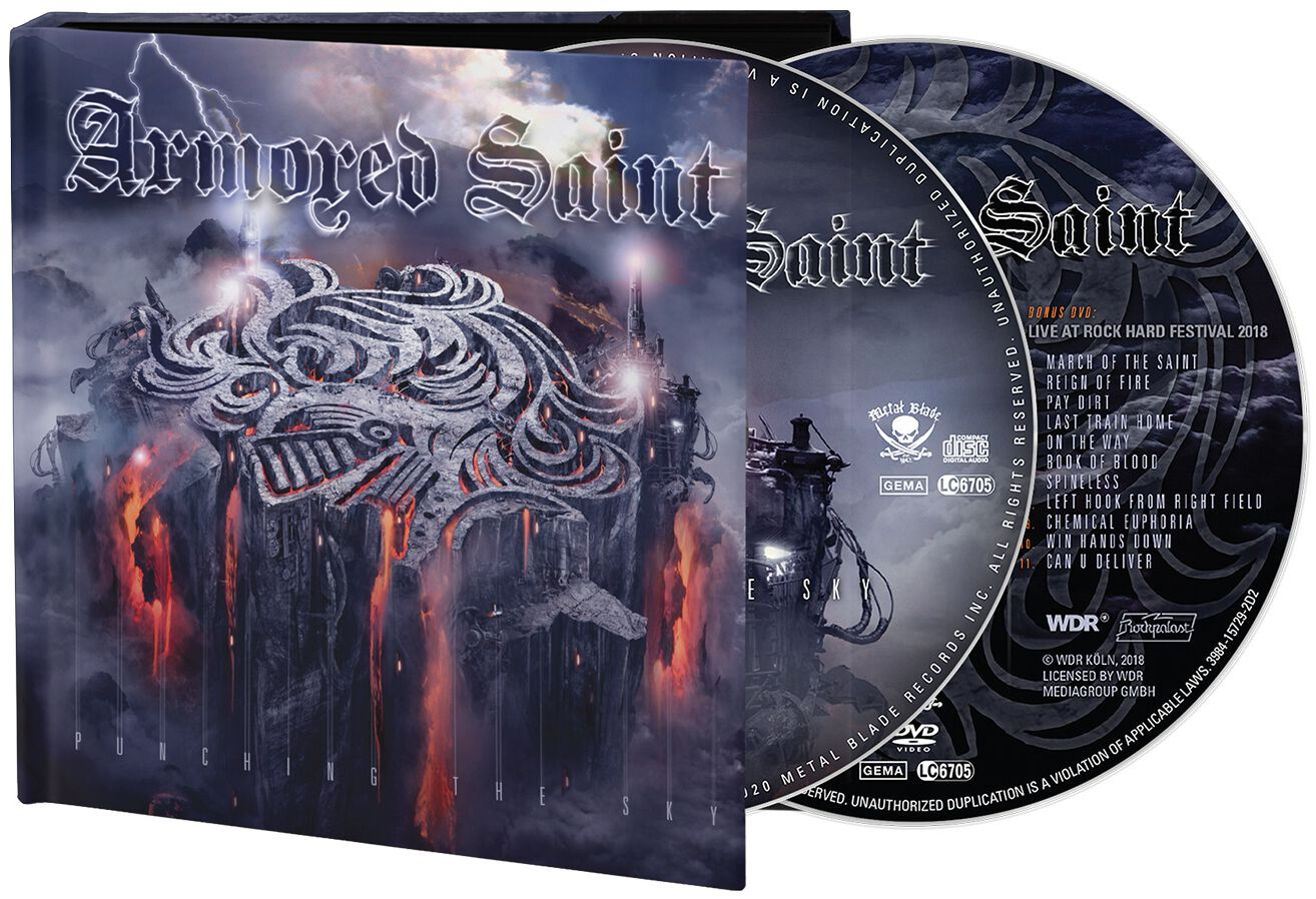 Image of Armored Saint Punching the sky CD & DVD Standard