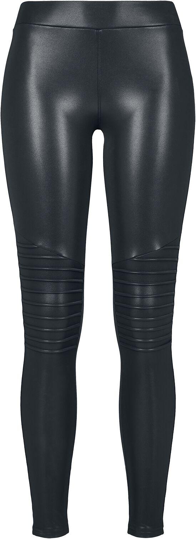 Hosen für Frauen - Urban Classics Ladies Faux Leather Biker Leggings Leggings schwarz  - Onlineshop EMP