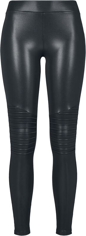 Ladies Faux Leather Biker Leggings