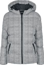 Ladies AOP Glencheck Puffer Jacket