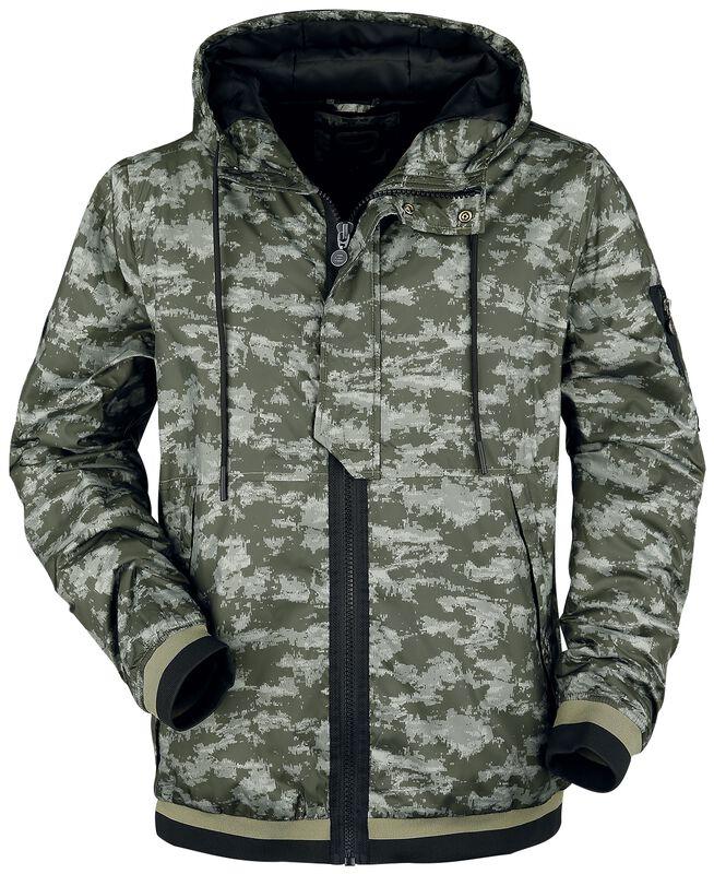 camouflage Jacke mit Kapuze