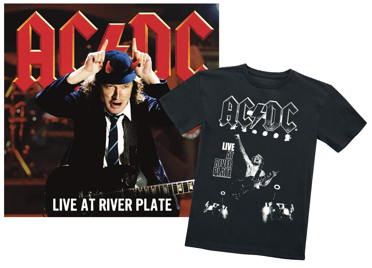 Image of AC/DC Live At River Plate 2-CD & T-shirt (L) Standard