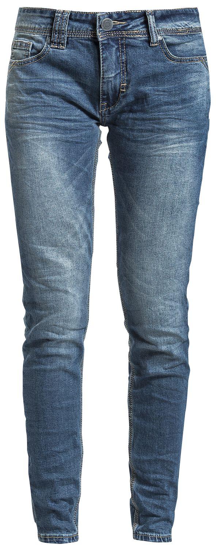 Hosen für Frauen - Stitch and Soul Ladies Skinny Denim Girl Jeans blau  - Onlineshop EMP