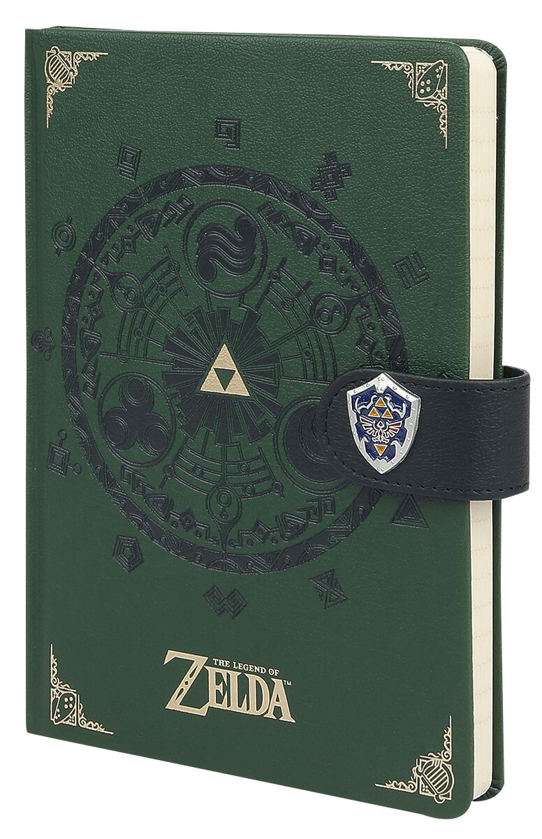 The Legend Of Zelda Gate Of Time Notizbuch grün SR72444