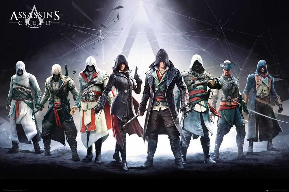 Image of Assassin's Creed Characters Poster multicolor