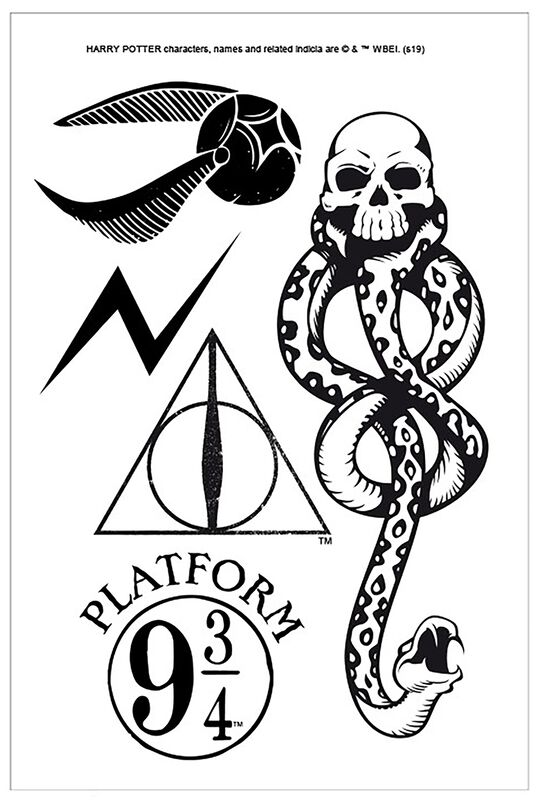 Harry Potter Tattoo Set