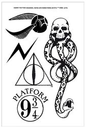 Harry Potter Tattoo Set