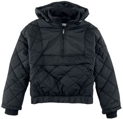 Ladies Oversized Diament Quilted Pull Over Jacket