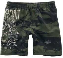 Badeshorts mit Print Rock Rebel