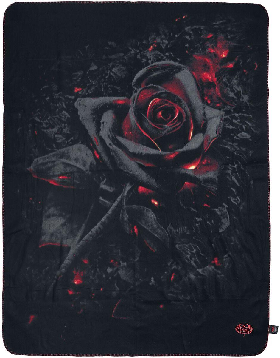 Spiral Burnt Rose  Decke  schwarz