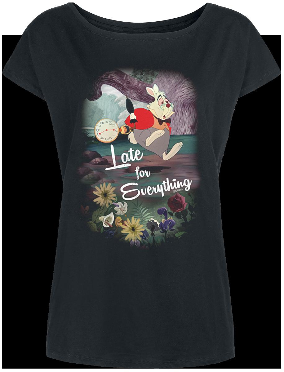 Alice in Wonderland - Late For Everything - Girls shirt - black image
