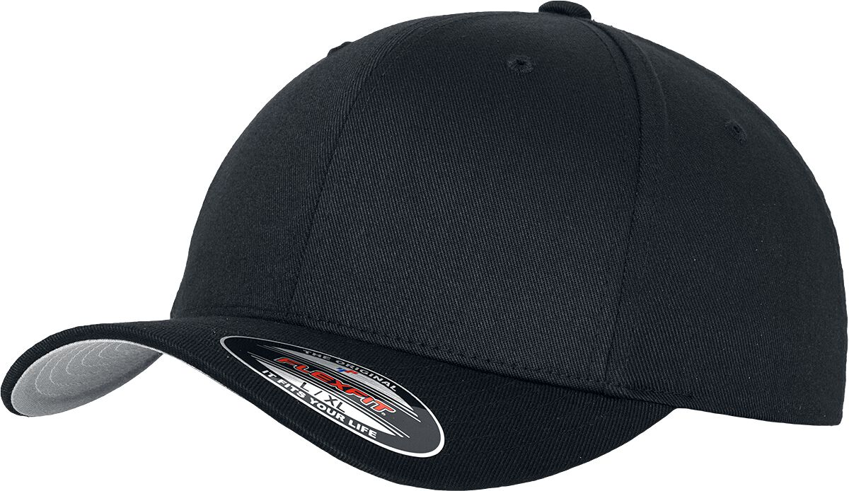 Image of Flexfit Wooly Combed Flexcap schwarz
