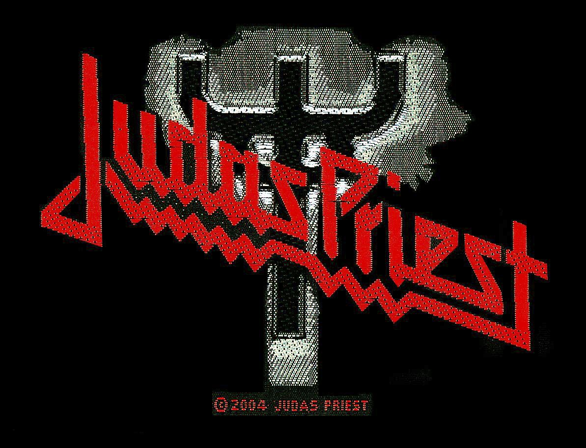 Judas Priest  Judas Priest Logo  Patch  schwarz/grau/rot