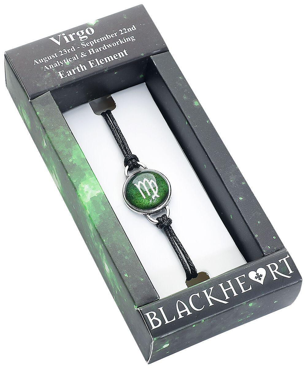 Armbaender für Frauen - Blackheart Sternzeichen Jungfrau Armband grün  - Onlineshop EMP