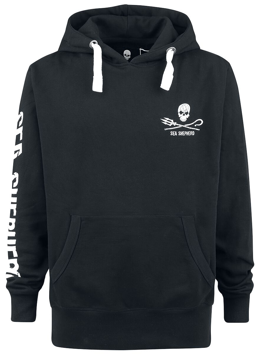 Sea Shepherd Jolly Roger Hooded sweater black