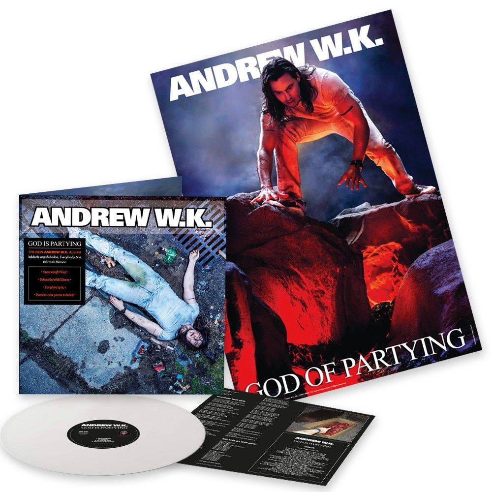Image of Andrew W.K. God is partying LP weiß