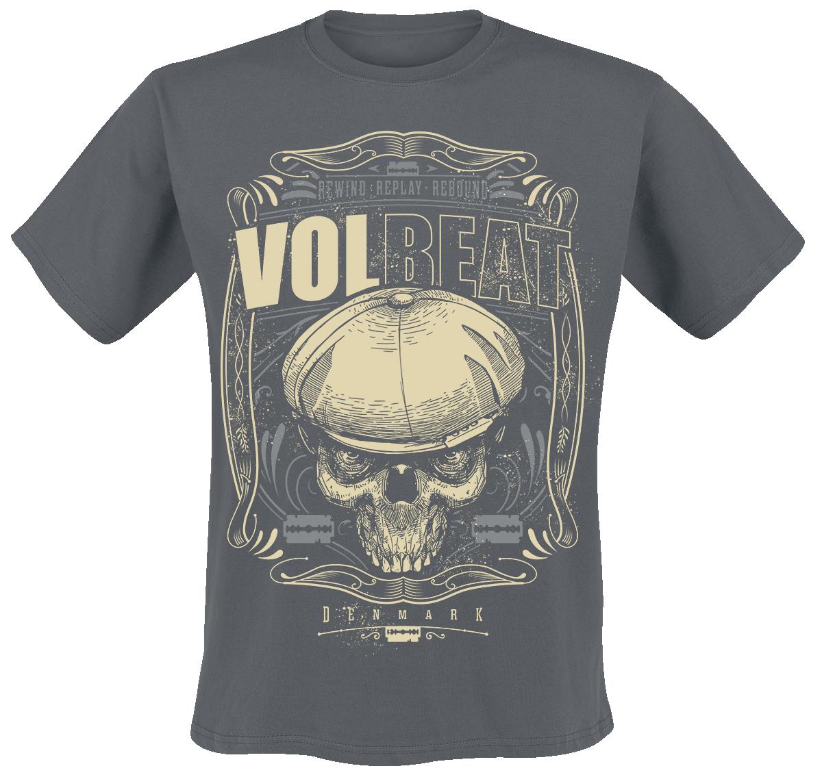 Volbeat - Skull Ornaments - T-Shirt - charcoal image