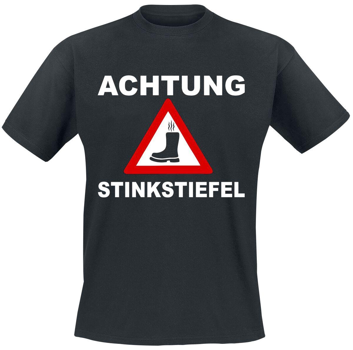 Image of Achtung Stinkstiefel T-Shirt schwarz