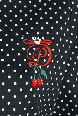 Cherries Dots Hooded Sweatdress