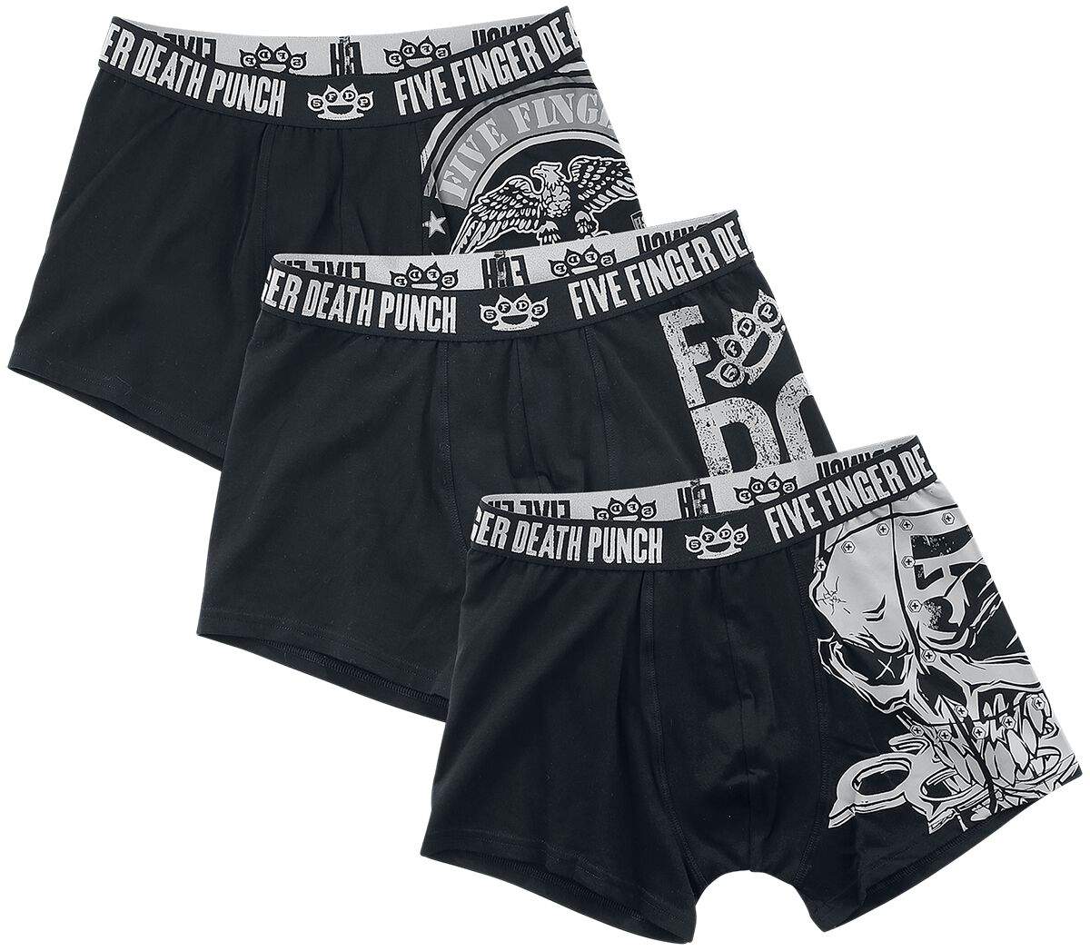Image of Five Finger Death Punch EMP Signature Collection Boxershort schwarz/grau