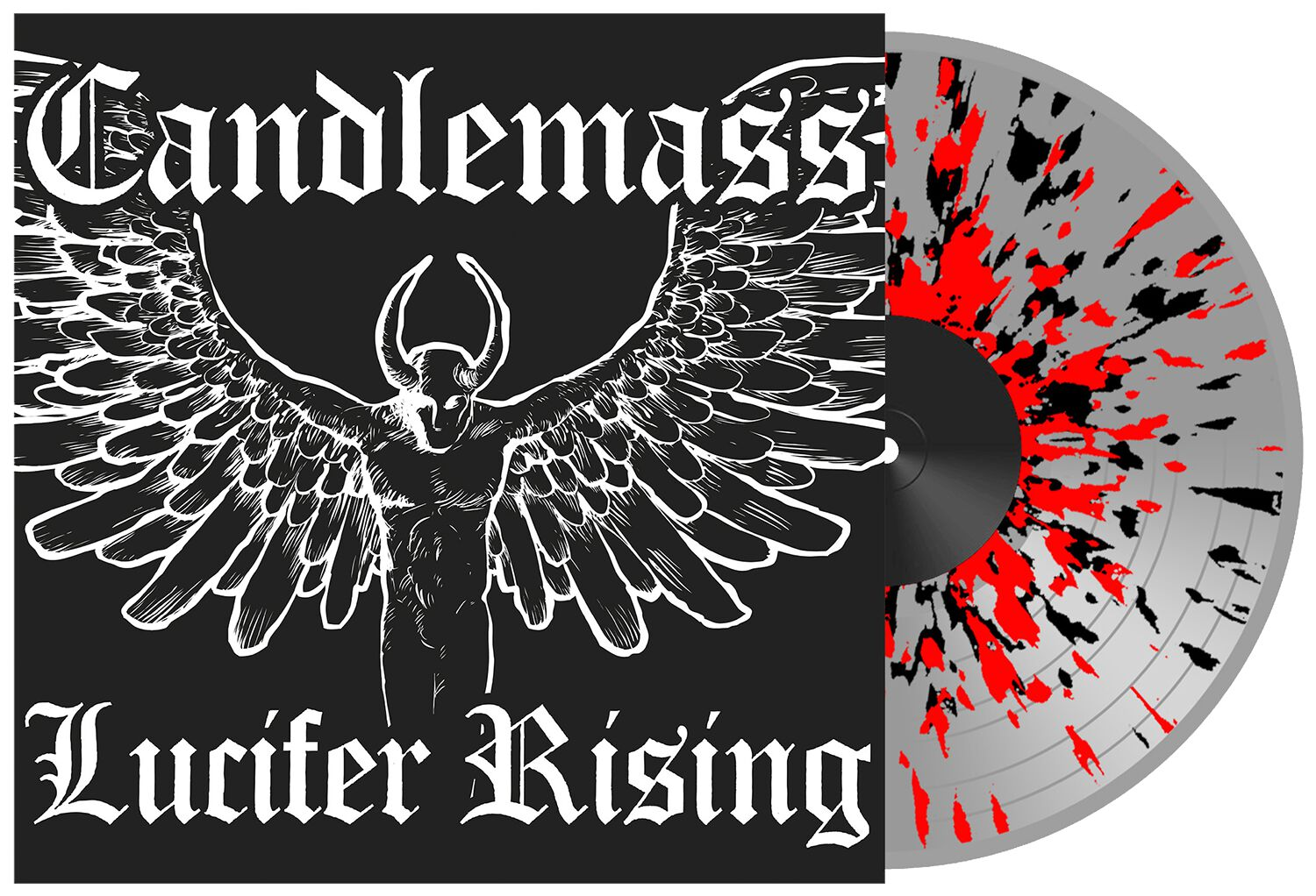 Image of Candlemass Lucifer rising 2-EP splattered
