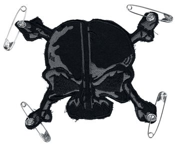 Patch: Grau-Schwarzer Schädel