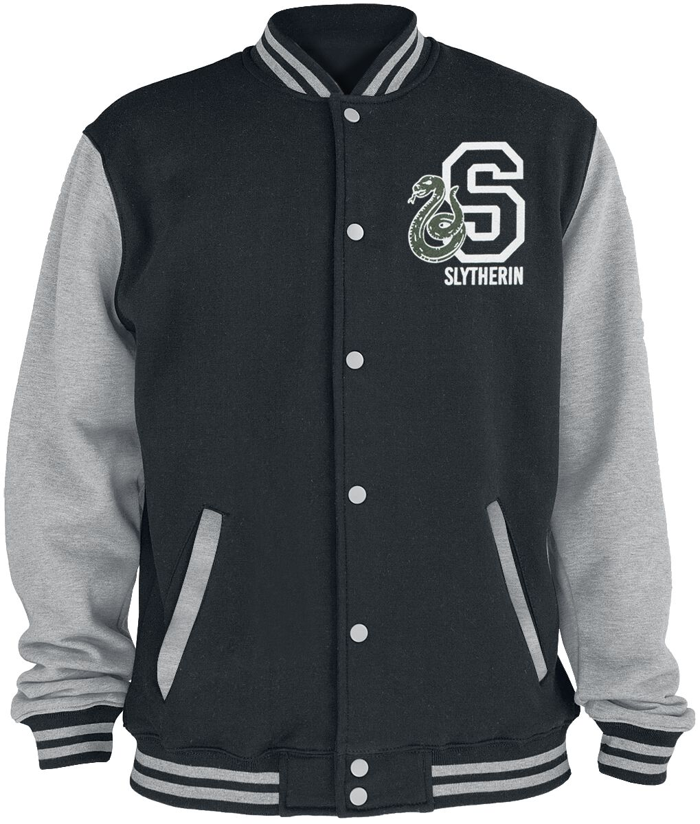 Image of Harry Potter Slytherin College-Jacke schwarz/grau meliert