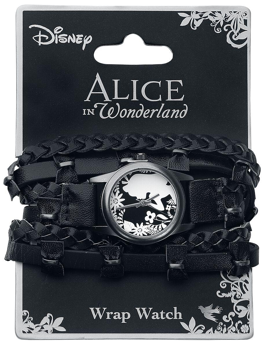 Uhren für Frauen - Alice im Wunderland Flower Alice Armbanduhr schwarz  - Onlineshop EMP