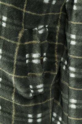 Teenage Dirtbag Plaid Faux Fur Coat
