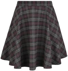 Rock Check Flared Skirt