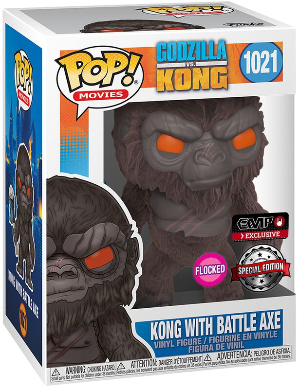 Kong with Battle Axe (Flocked) Vinyl Figur 1021